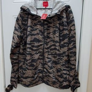 Mens Guess windbreaker camo jacket sz L